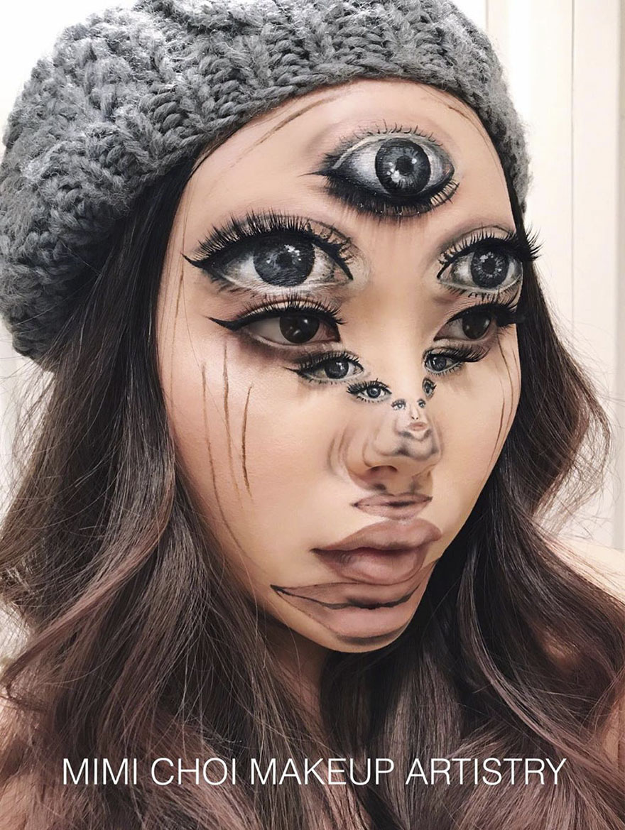 #4 - Woman Gives Up Teaching To Create Optical Illusions With Makeup, And It's Messing With Our Minds