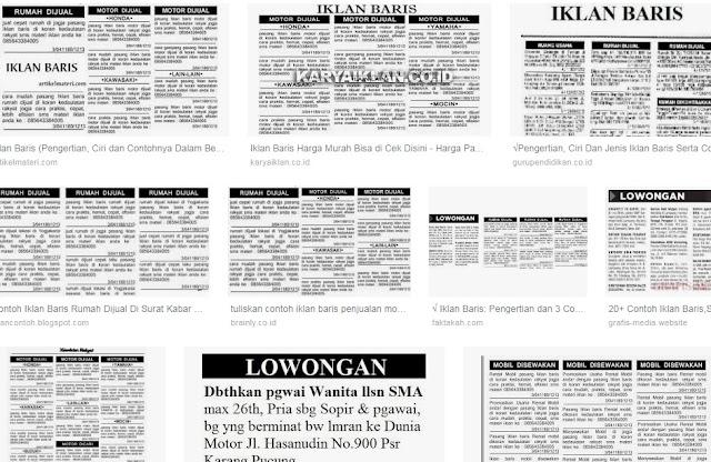 √ Iklan Baris: Pengertian, Ciri dan 50 Contoh Iklan Baris