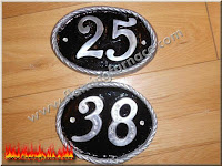 foundry sand casting house number plaque