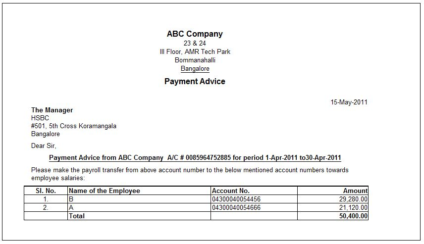 Doc736488 Payment Advice Slip e Payment Advice in Payroll – Remittance Advice Template