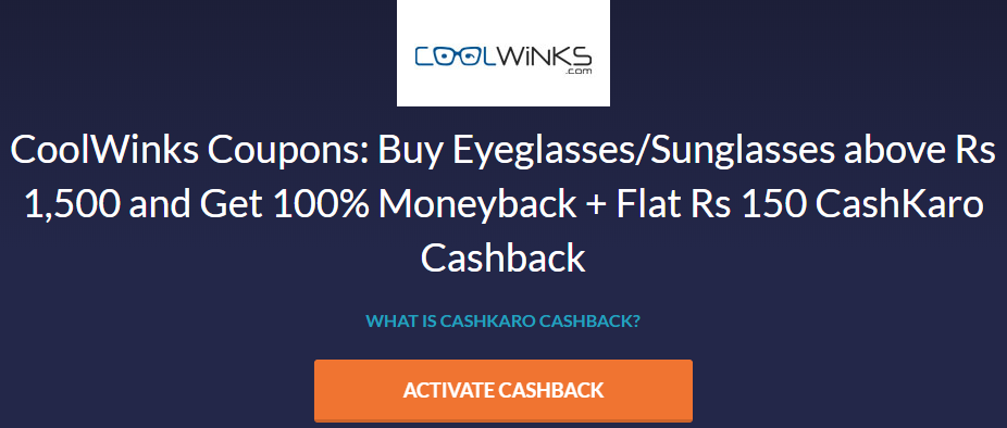 Steps: How to Get Coolwinks Rs.3000 Cashback on 2 Sunglasses