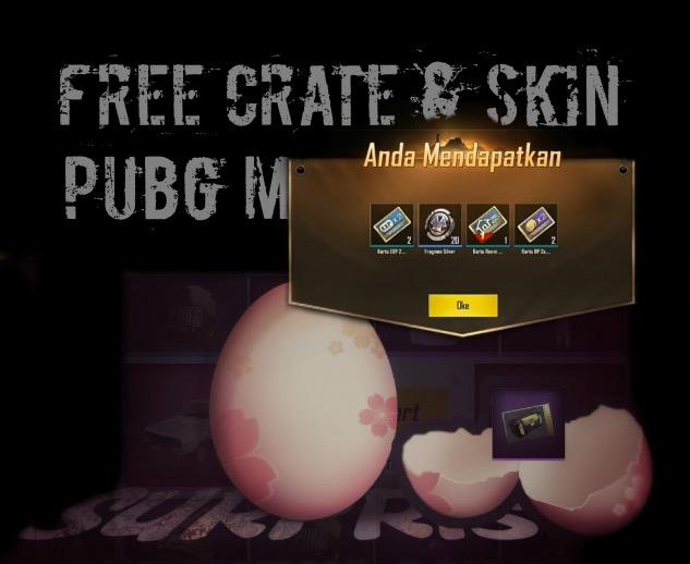cara mendapatkan skin dan crate pubg mobile gratis