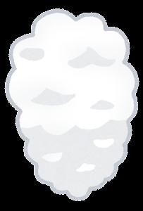 煙のイラスト(白)1
