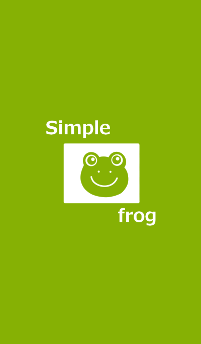 Yellowish green frog and simple