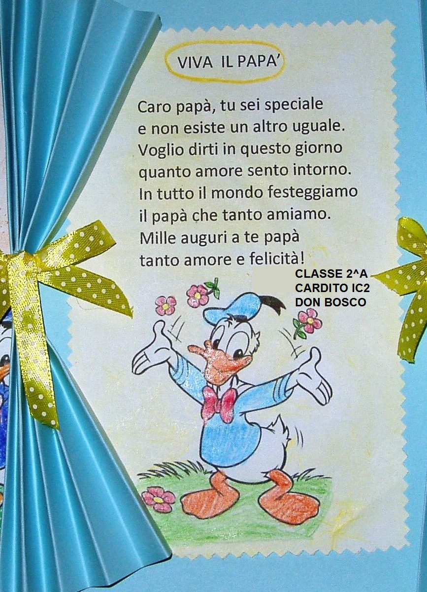 POESIA del PAPA' classe 2^A