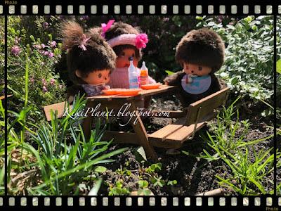 kiki monchhichi virkiki barbecue jardin poupée doll miniature toys life