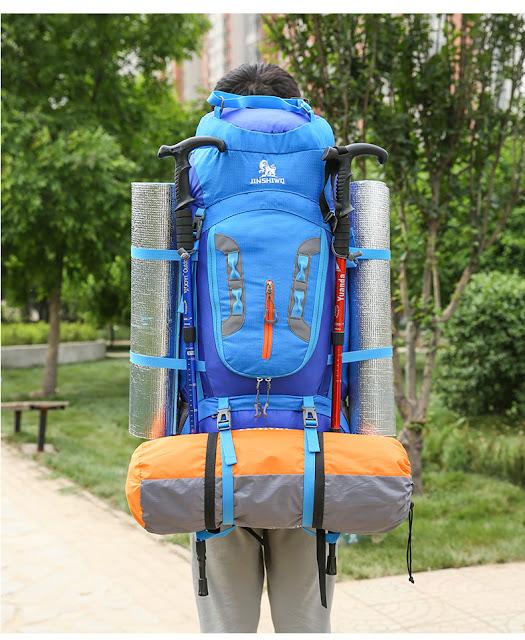 กระเป๋าเดินป่า JINSHIWQ สีน้ำเงิน