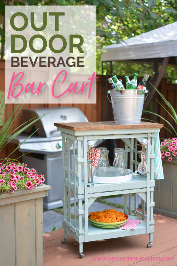 Outdoor Portable Beverage Bar Cart