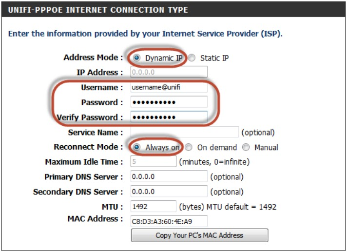 How To Setup Tm Unifi Maxis P1 Pppoe On Dir 820l Unifi
