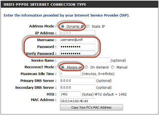 How to setup TM Unifi Maxis P1 PPPoE on DIR-820L