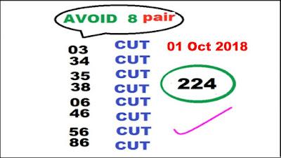 Thai lottery tips nationwide free cut pair magazine 01 October 2018