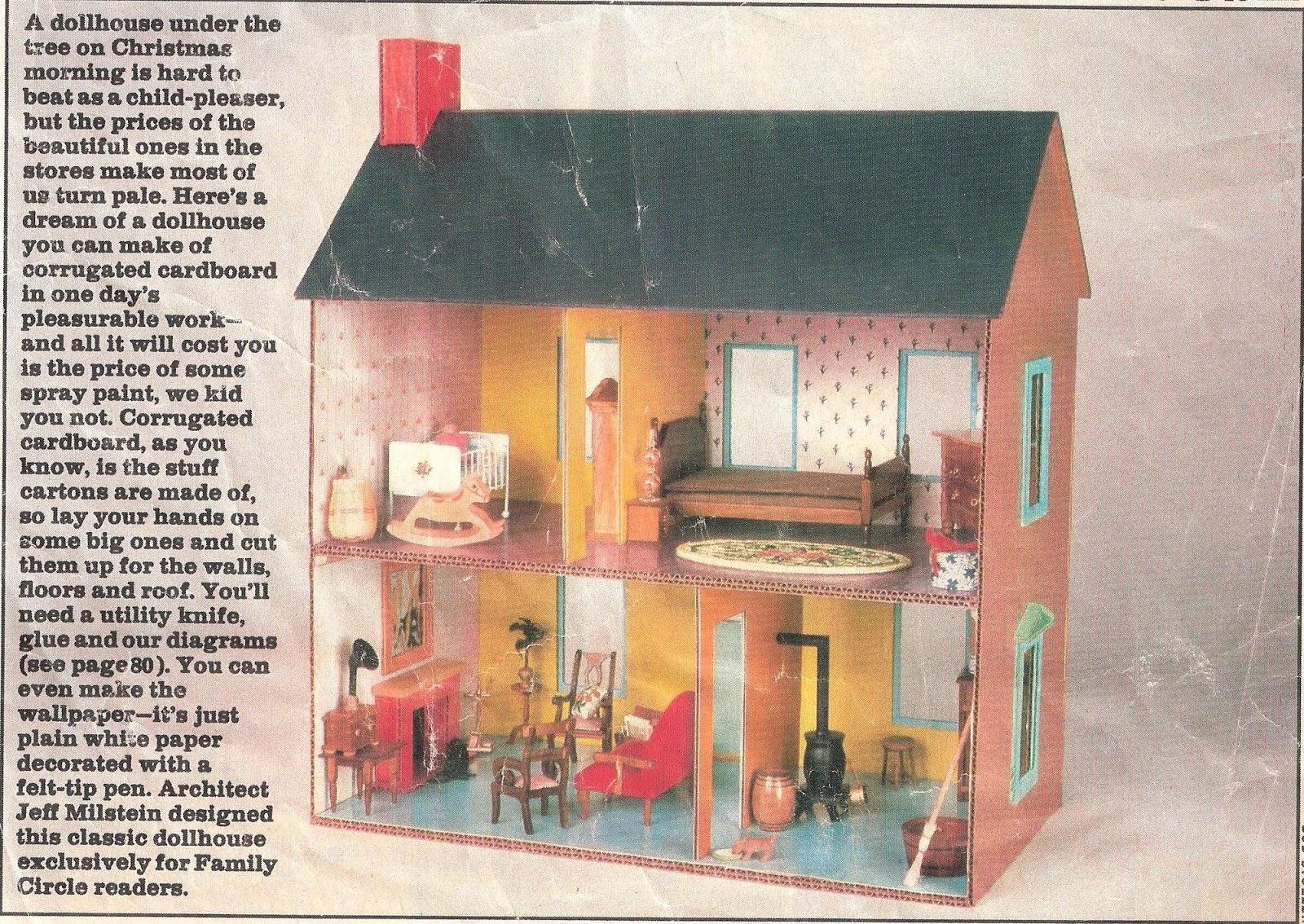 My Vintage Dollhouses Easy To Make Cardboard Dollhouse Plans
