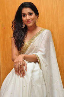 Actress Rashmi Gautham Pictures in White Saree at tur Talkies Audio Launch  0038