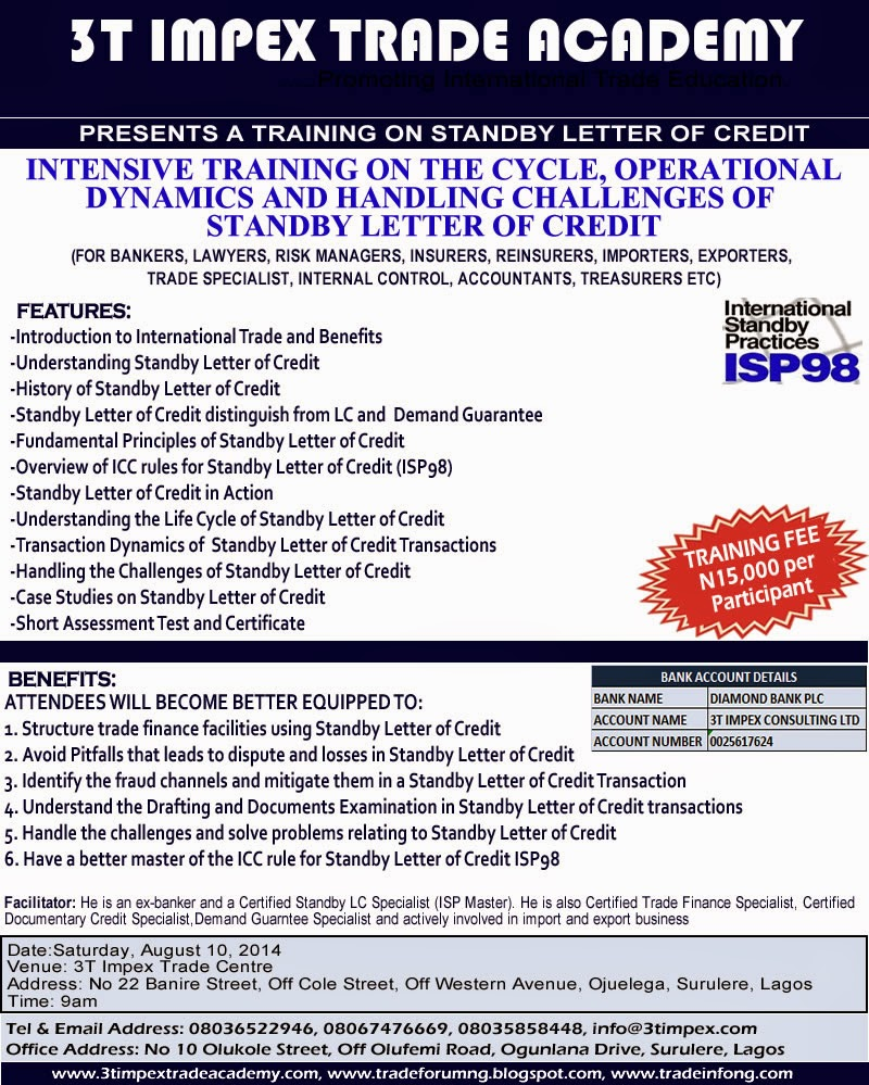 standby letter of credit july 2014 tradeinfoportal 24967 | Standby LC Training