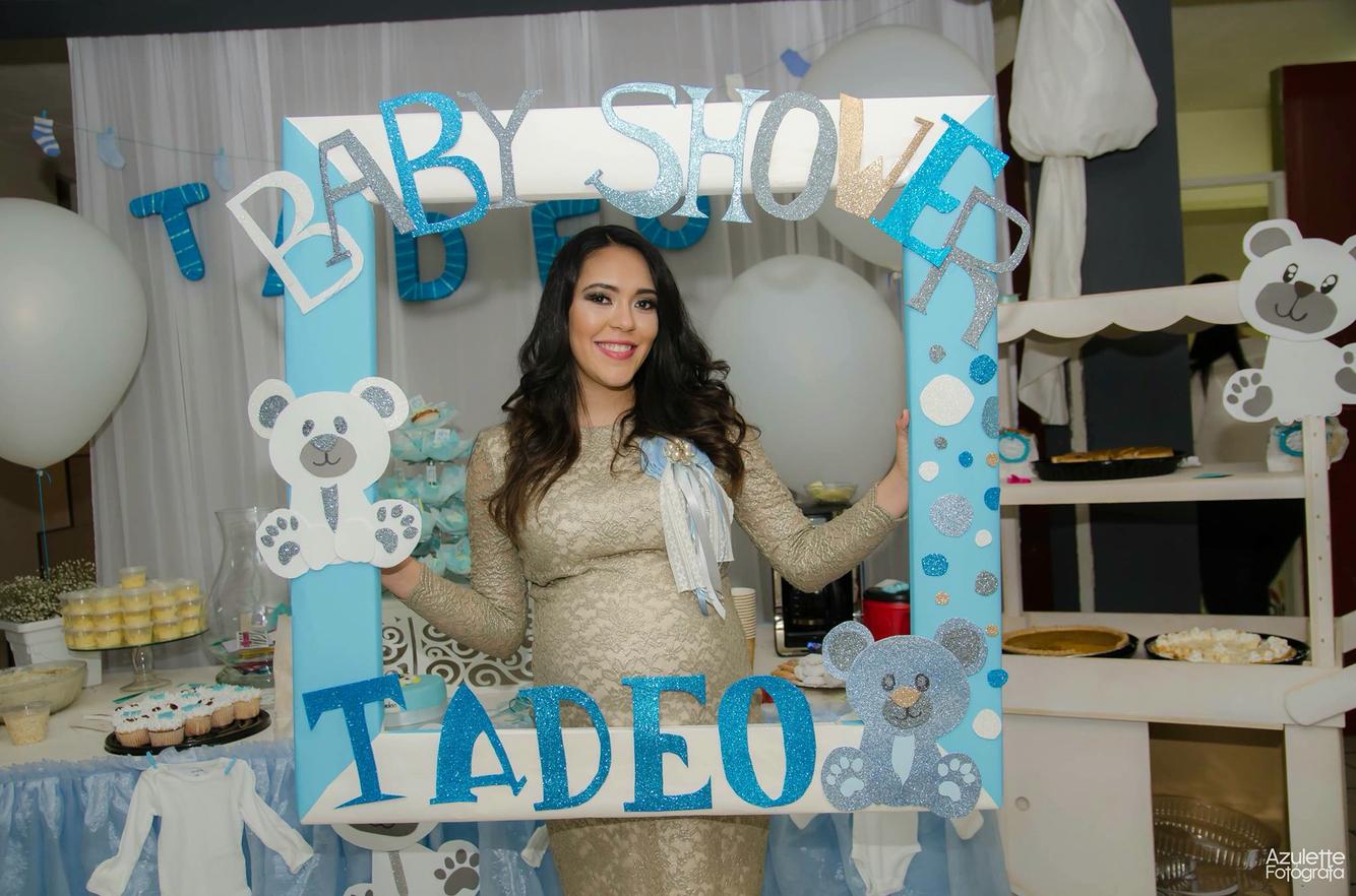 Aprende c mo hacer marcos de baby shower para selfies - Decoracion de marcos para fotos ...