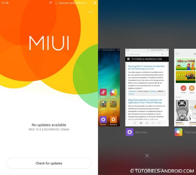 Captures d'écran MIUI v6