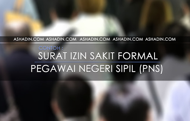 Surat Izin Sakit Formal PNS