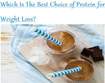 Best Choice of Protein for Weight Loss?