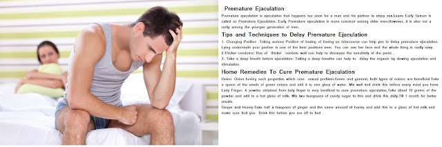 Home Remedies to Stop Premature Ejaculation