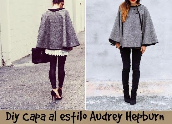 """Como hacer una Capa al estilo """"Audrey Hepburn"""" Diy"""
