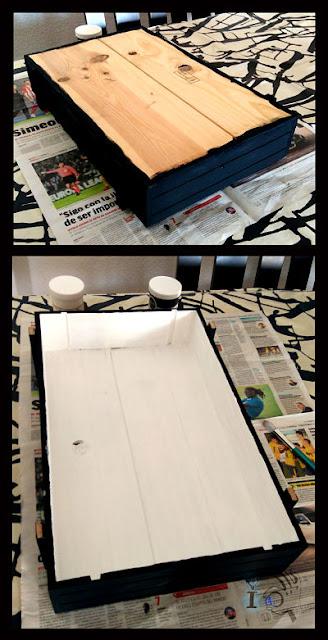 Pintado-estanteria-con-caja-de-vinos-Ideadoamano