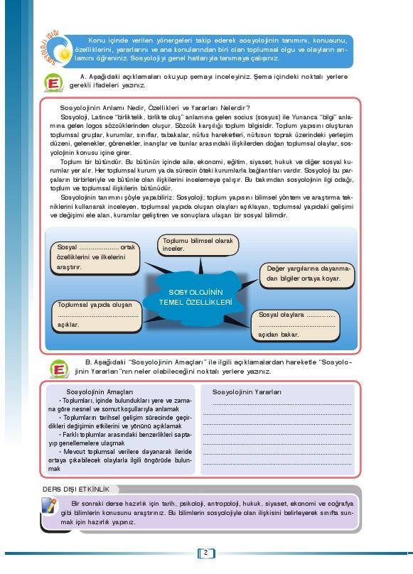 Sosyoloji Ders Kitabı Cevapları Ada Yayınları Sayfa 2