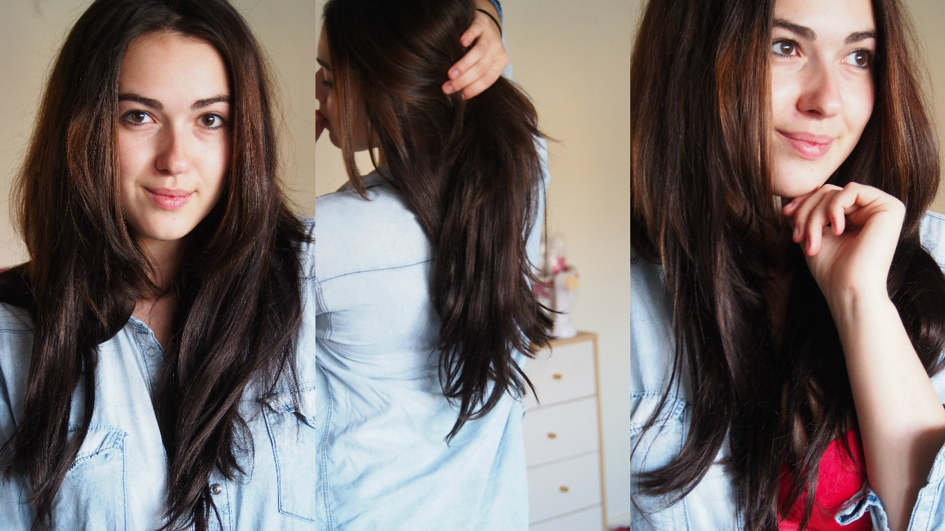 Hair extensions on head
