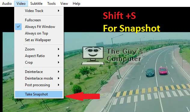 How to capture snapshot using VLC media player