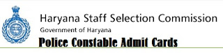 Download Haryana Police written test Admit Cards