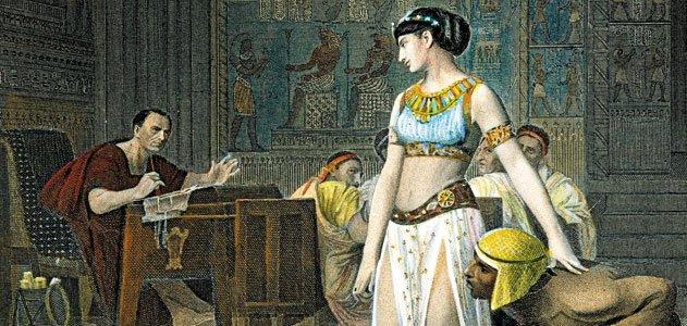 Julius met Cleopatra smuggled