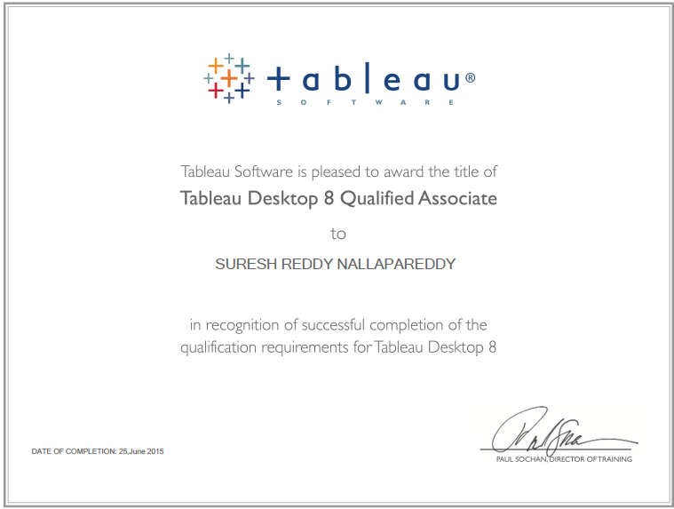 Tableau Expert Info Upgraded My Certification Title To Tableau