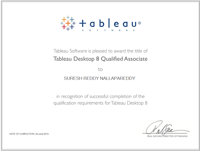 Tableau Expert Info Upgraded My Certification Title To