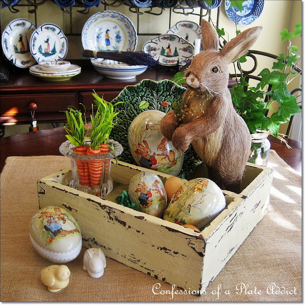 If You Are Looking For More Easter Centerpiece Inspiration Heres My Rustic Box All Dressed Cute Bunny Friend And His Carrots Made An