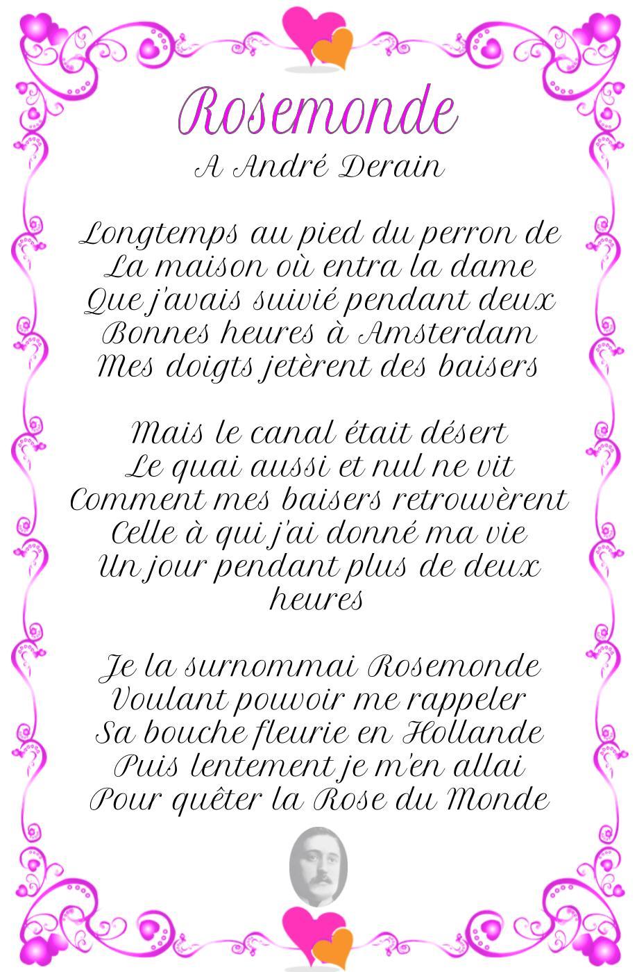 Rosemonde, poème de Guillaume Apollinaire