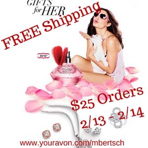 Avon Valentines Day Free Shipping