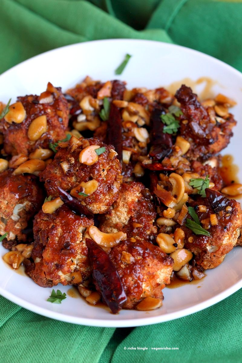 SPICY CRISPY KUNG PAO CAULIFLOWER RECIPE