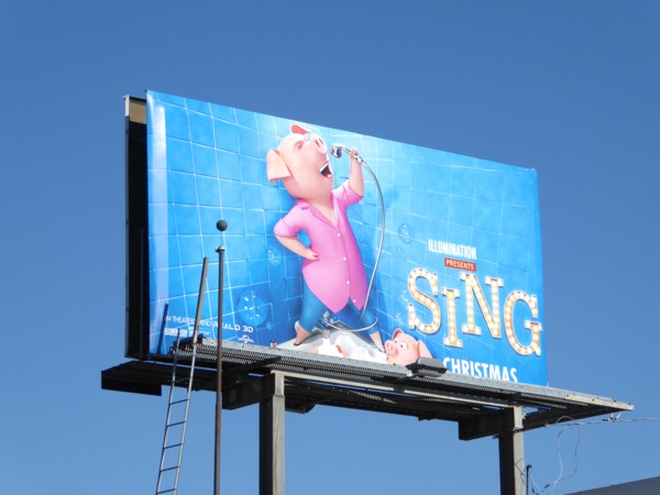 Sing movie Rosita Pig billboard