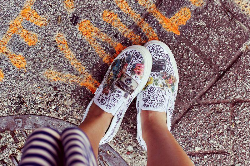 zapatillas, manualidades, tunear, customizar, diys