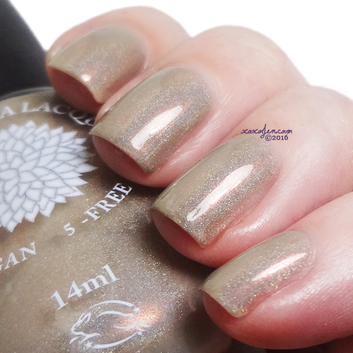 xoxoJen's swatch of Black Dahlia Brass Tulip
