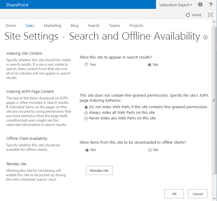 SharePoint search exclude site collection
