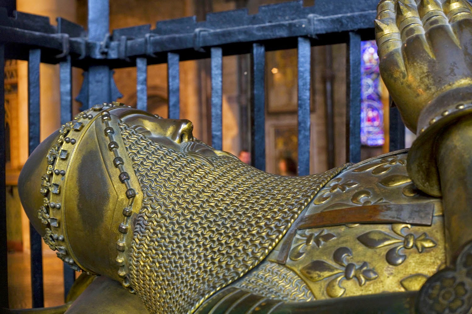Tomb of the Black Prince, Canterbury Cathedral, Kent.