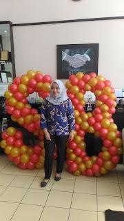 dekorasi balon bentuk huruf