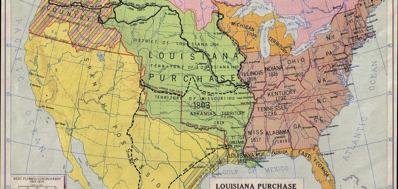 the louisiana purchase signed by president thomas jefferson in 1803