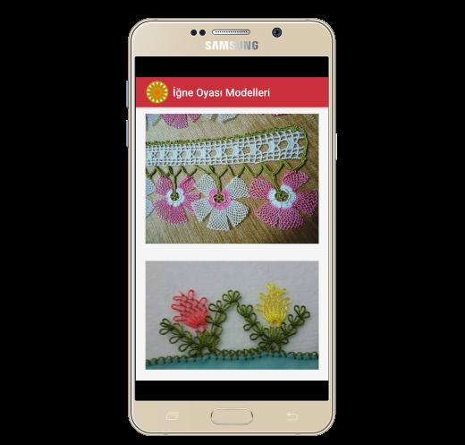 İğne Oyası Modelleri Cep Telefonu Uygulması