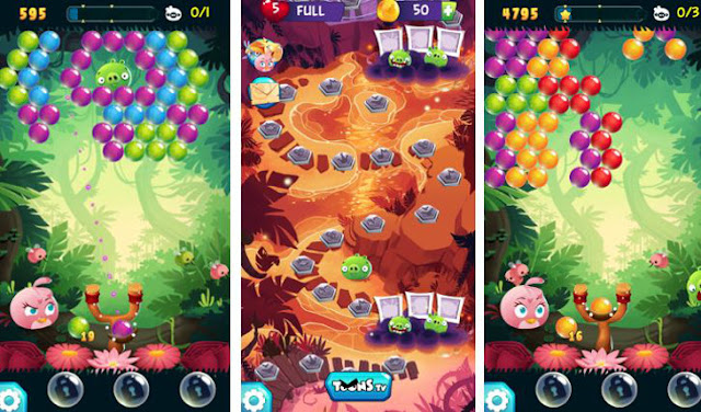 Angry Birds POP Bubble Shooter v2.25.0 Apk Mod [Dinero]