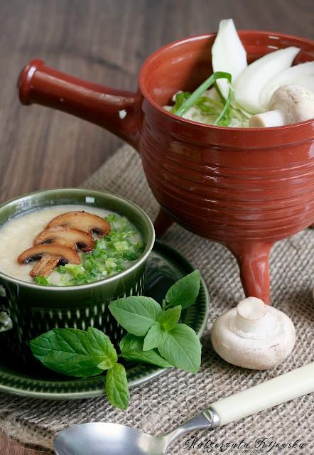 krem z białych warzyw, zupa, obiad