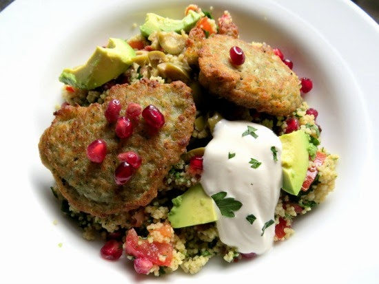 Couscous  Salad with Falafel and Pomegranate
