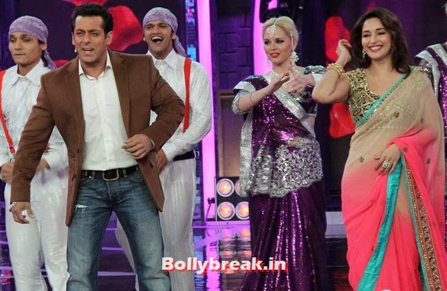 Salman Khan and Madhuri Dixit, Madhuri Dixit Huma Quershi promote Dedh Ishqiya on Bigg Boss 7