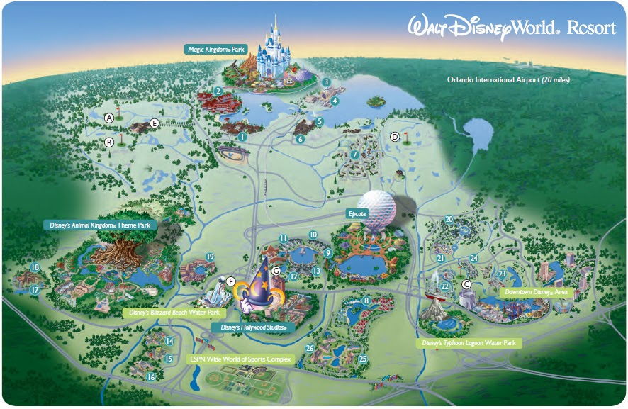 Walt Disney World Resort Hotel Map