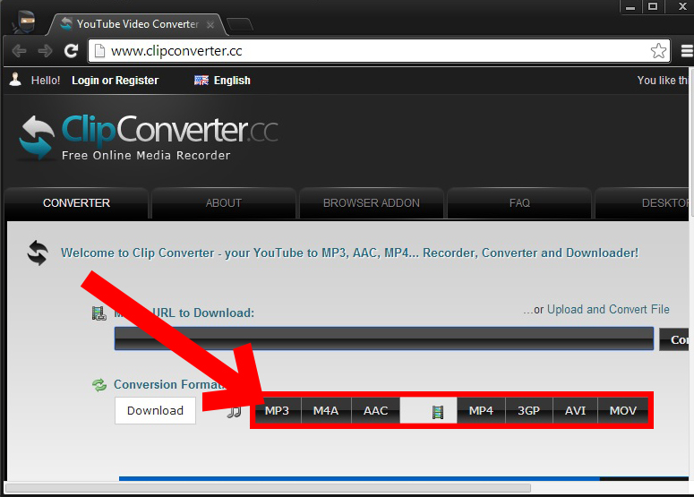 clipconverter cc youtube video converter and download
